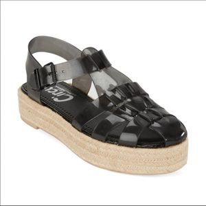 Circus by Sam Edelman Black Jelly Espadrille